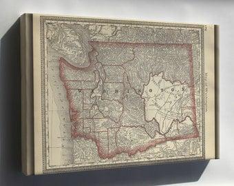 Canvas 24x36; Map Of Washington State 1881