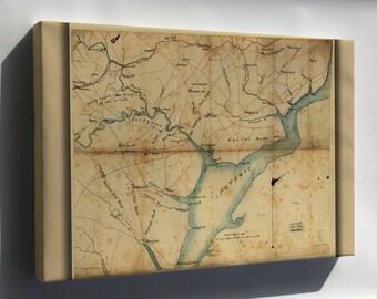 Canvas 24x36; Map Fairfax & Prince William Co'S Virginia 1865