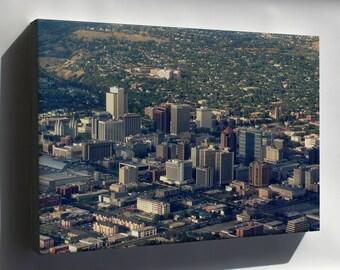 Canvas 24x36; Salt Lake City