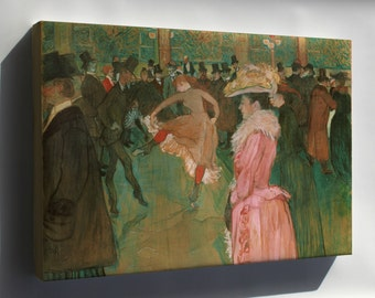 Canvas 24x36; Henri De Toulouse Lautrec, French At The Moulin Rouge The Dance