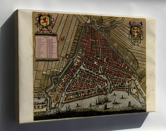Canvas 24x36; Map Of Rotterdam, Holland, Netherlands 1709