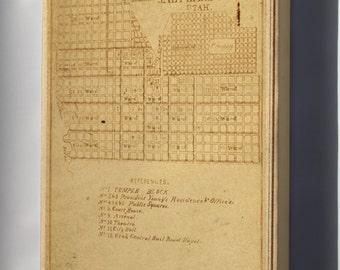 Canvas 16x24; Salt Lake City Plan, Circa 1870S
