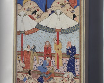 Canvas 16x24; Layla And Majnun Described In The Third Book Of Nizami'S Khamsah (