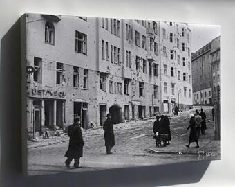 Canvas 16x24; Helsinki Bombardment 1939 Sa Kuvat Fu2008