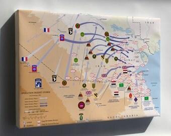 Canvas 16x24; Operation Desert Storm