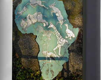 Canvas 16x24; Africa Plaque P Zoo