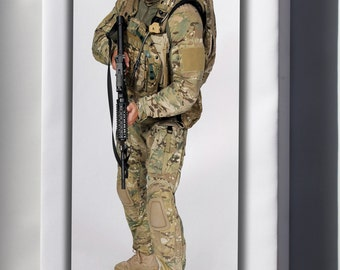 Canvas 16x24; U.S. Army Future Force Warrior Soldier System