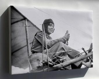 Canvas 16x24; Hélène Dutrieu C1911 Aviator