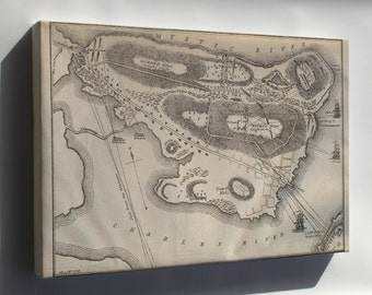 Canvas 16x24; Bunker Hill Military Map Historic Map Of Bunker Hill American Revolutionary War