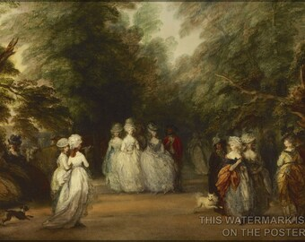 16x24 Poster; Mall In St. James'S Park By Thomas Gainsborough C1783