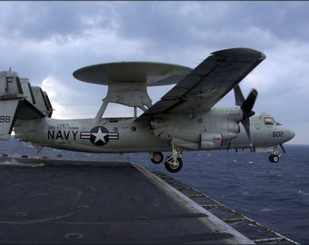 16x24 Poster; E-2C Hawkeye (Vaw-115) Uss Kitty Hawk (Cv 63)