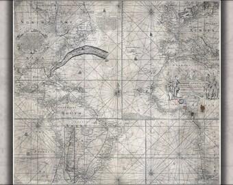 16x24 Poster; Franquelin'S Map Of Louisiana 1684