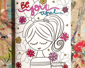 BeYOUtiful coloring book by PupocoArts Gifts for her