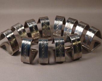 Gense Swedish Stainless Steel Napkin Rings Set of 12