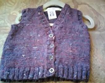 Dark Tweed Home Spun Waistcoat