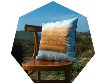 """CUSHIONS in velvet-print with COOKIE-home decor-""""Sweet Life Style"""" Collection"""