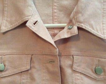Boho Pink Linen Denim Jacket Style