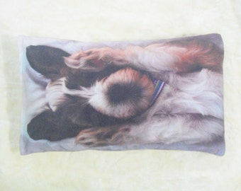 Own Photo Cotton Dog Bed Cover with Piping (8oz Cotton Canvas)