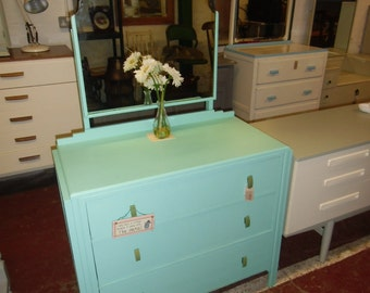 1930s dressing table refurbished in miami mint