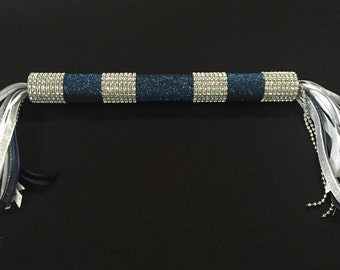 Personalized Cheerleading Spirit Stick - Cheer Stick - Spirit *Navy and Silver*