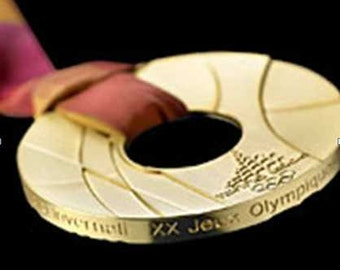 Torino 2006 Olympic 'Gold' Medal with Ribbons & Display Stands !!!