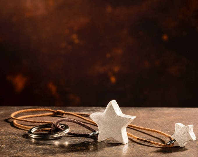 Hanging star, requests a wish, special gift, anniversary, jewel of paper, unisex, necklace star, handmade, eco-friendly,