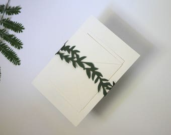 Floral / Vine Wedding Invitation Belly Bands / Invitation Suite Enclosure / Custom Belly Bands