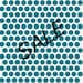 Nearly at cost SALE - Dottie Teal - Birch Fabrics Organic Cotton by Mod Basics Teal Dots - 1 yard