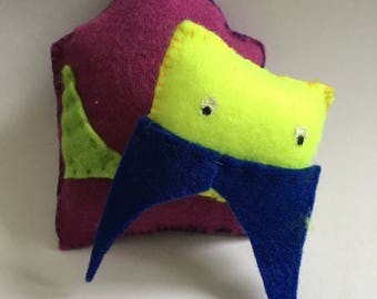 Colorful felt toy - walrus
