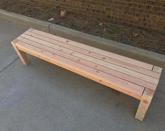 "72"" Handmade Outdoor Wooden Bench - Outdoor Furniture, Wood Bench, Farmhouse Bench, Patio Furniture, Rustic Bench"
