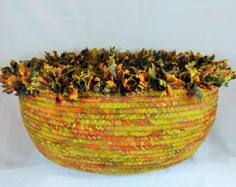 Second Spring Coiled Fabric Basket