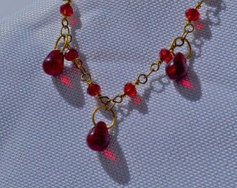 Seductive Red & Gold Anklet