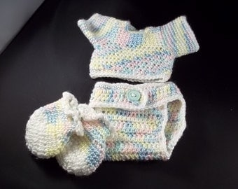HOLIDAY 2017 SALE!! 4 Piece  Set For 20 inch Lil' Baby Doll - Multi Pastel