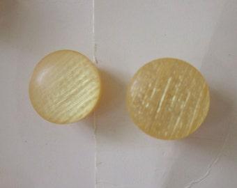 """10 Vintage Buttons, Lansing 7/16"""" Orange Plastic Shank Buttons, on Original Cards"""