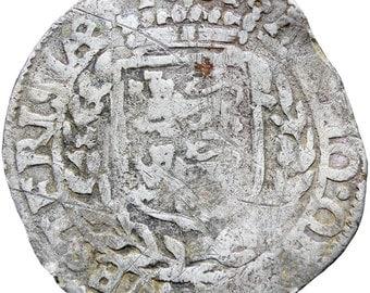 1601 Netherlands West Friesland 6 Stuivers Roosschelling Hammered Silver Coin