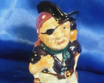 "Vintage Toby Jug ""Long John Silver"" by Shorter & Son Ltd England"