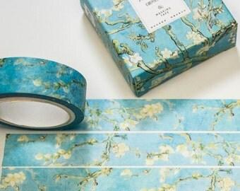 Washi masking tape/Almond Blossom/DIY Filofaxing scrapbooking decorative ribbon tape