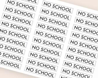 30 black no school stickers, header stickers, transparent stickers clear, planner stickers school college eclp filofax happy planner kikkik