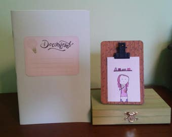 The Naturalist's Set - Keepsake Box, Sketchbook, and Artist Trading Card ATC