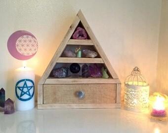 Crystal Shelf with drawer