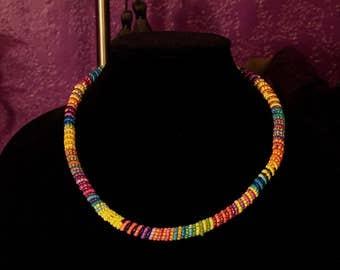 Beaded Rainbow Necklace.
