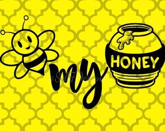 Bee my Honey Valentine's Day svg