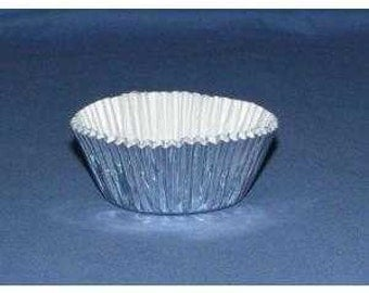 500pc Mini Size Silver Foil Baking Cup With Greaseproof Liner