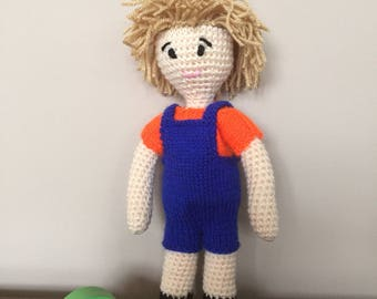 Handmade boy rag doll