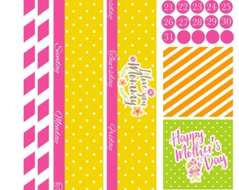 Mother's Day Happy Planner Monthly, Happy Planner Classic Monthly
