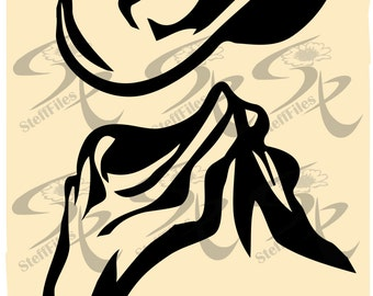 0458_Vector_HAT and SCARF,SVG,DXF,ai, png, eps, jpg,Silhouette,Download files, Digital, graphical