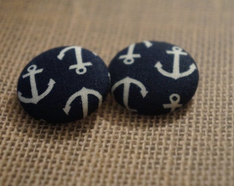 Sea Me Soar Button Earrings