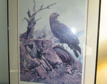 Gary Montgomery Limited Edition Lithograph Print 23/300 Native American