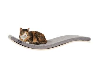 GRAY wall mounted cat bed bed pet shelf  cats shelves wave shelf cat shelf pet supplies nesting supplies cat accessories cat bed nice bed