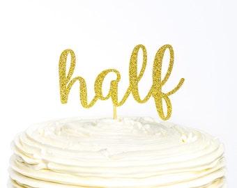 Half Birthday Glitter Number Cake Topper, Cake Topper, Glitter Cake Topper, Birthday Cake, Birthday Cake Topper, 1/2 Birthday, Half Birthday
